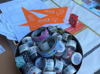Washi tape donated by Scotch Products at the Etsy Craft Party 2015 - Seattle edition