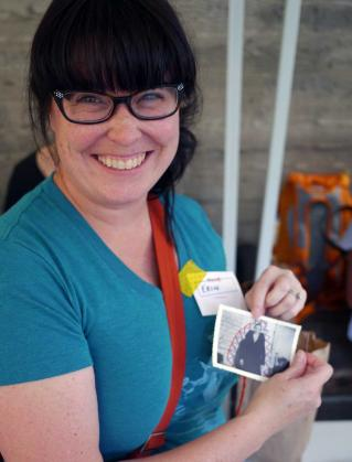 Erin Duncan of Wren Bird Arts at the Etsy Craft Party - Seattle Edition 2014