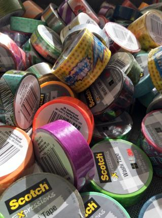 Thanks to 3M for donating washi tape and packing tape for our image transfer project. Thank you!